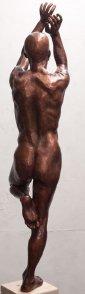 Bart standing on one leg