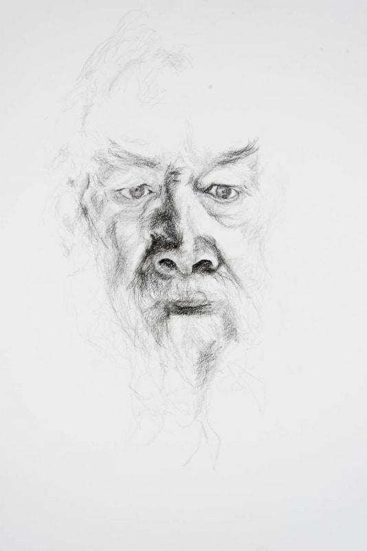 portret van oudere heer met witte baard